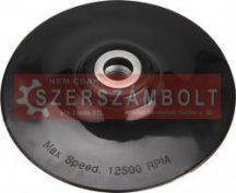 gumitányér sarokcsiszolóhoz; 125mm, M14, lágy, max. 12.500 ford./perc