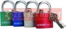 Lakat vas 3 kulccsal dobozban 32mm Extol színes