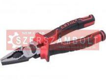 Kombinált fogó,200mm, duál vörös/TPR nyél, 20% extra erõkifejtés, akasztós szerszámtartó EXTOL