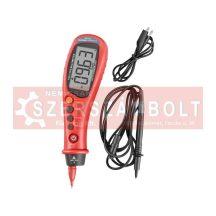 Digitális multiméter, toll típusú; Amper/Volt/Ohm mérõ, hangjelzõ funkcióval, CE, 2 db 1,5V AAA elem