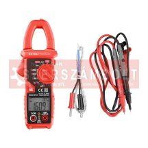 Lakatfogó és digitális multiméter; Amper/Volt/Ohm mérõ, True RMS, hangjelzõ funkcióval, CE, 2 db 1,5