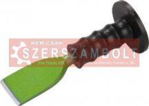 laposvésõ, mûanyag kézvédõvel; 230mm, 57 mm széles vágóél (16 mm szár), edzett, hõkezelt szénacél