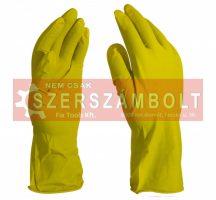 Háztartási gumikesztyű sárga M-es 60gr/pár