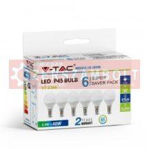 5,5W LED izzó E14 P45 6400k 6db/csomag